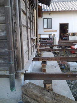 住みながらの住宅基礎改修工事