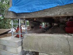 神殿 沈下修正工事・基礎土留め改修工事