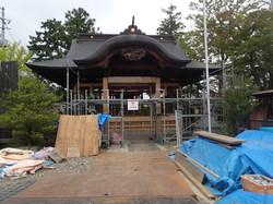 双葉 相馬妙見宮初発神社 再建