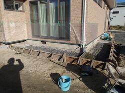 水害による沈下修正工事